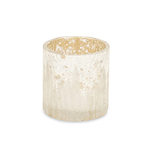 White and Silver 2.75 In. Candle Holder, Set of Six