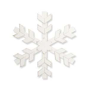 White 20 In. Wood Snowflake