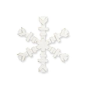 White 12 In. Wood Snowflake, Set of Four