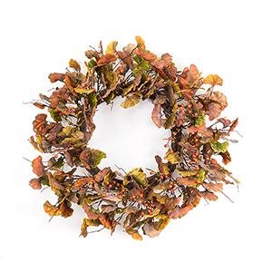Brown and Orange Gingko Leaf Wreath