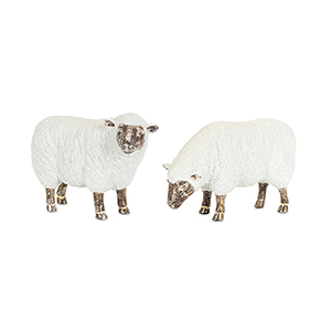 White and Brown Sheep, Set of Two