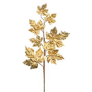 Gold Maple Leaf Spray, Set of 12