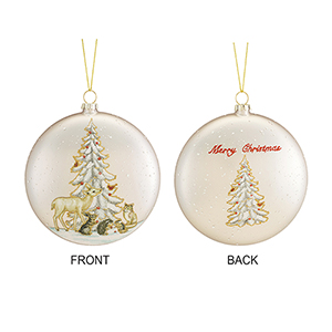 Tree Disc Ornament, Set of Six
