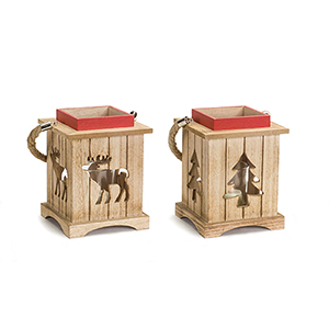 Tree and Deer Lantern, Set of Two