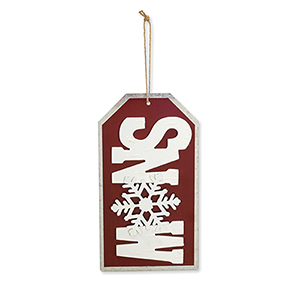 Snow Tag Ornament, Set of Four