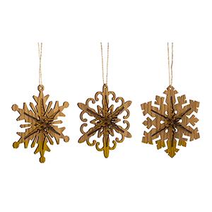 3-D Snowflake Ornament, Set of 12