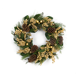 Mixed Pine and Berry 25 In. Wreath
