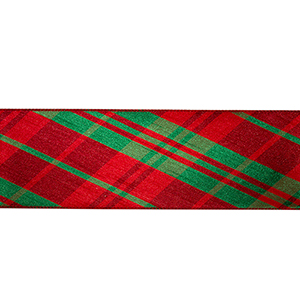 Red and Green 4 In. Ribbon, Set of Six Rolls