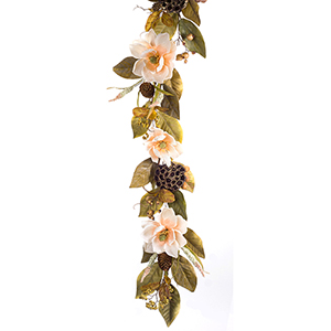 Magnolia and Berry Garland, Set of Two