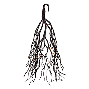 Black Hanging Tree with Light and Timer, Set of Two