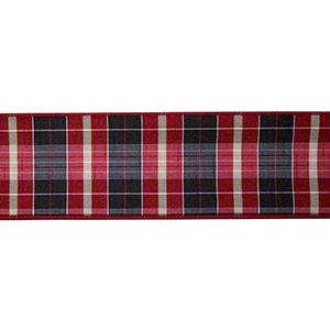 Red and Black Plaid 4 In. Ribbon, Set of Six Rolls