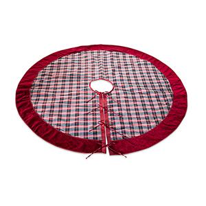 Red and Black Plaid Tree Skirt