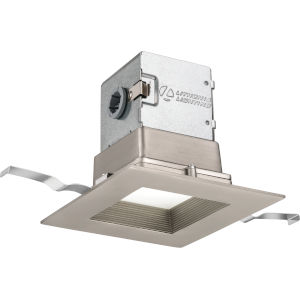 OneUp Brushed Nickel Square LED Recessed Lighting Kit