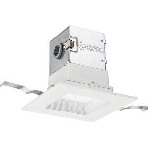OneUp Matte White Square LED Recessed Lighting Kit