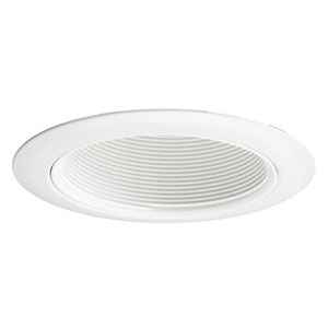 14 WWH 4-Inch Recessed Baffle Trim White Baffle with White Trim