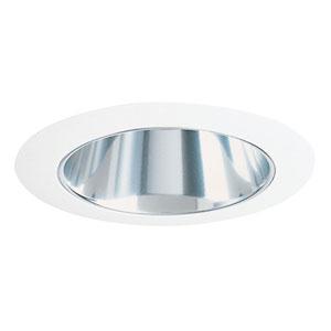17 CWH 4-Inch Cone Trim Clear Alzak Cone and White Trim
