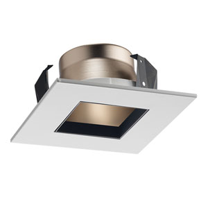 17SQ HZWH 4-Inch Square Shower Recessed Trim Frosted Glass with Haze Trim