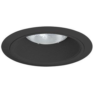 Shop decorative recessed lighting trim kits glass bellacor 24 bbl 6 inch baffle trim black baffle with black ring aloadofball Gallery