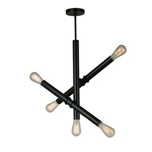 Drucker Black Five-Light Pendant