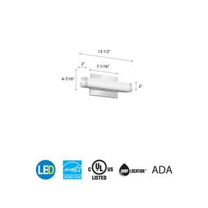 FMVCSL 12IN MVOLT 30K 90CRI KR M6 Contemporary Square 1 Foot Chrome 3K LED Vanity Light