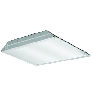 2GTL2 3300LM LP835 2 ft. x 2 ft. White LED Lay In Troffer with Prismatic Lens 3500K