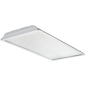 2GTL4 4400LM LP835 2 ft. x 4 ft. White LED Lay In Troffer with Prismatic Lens 3500K