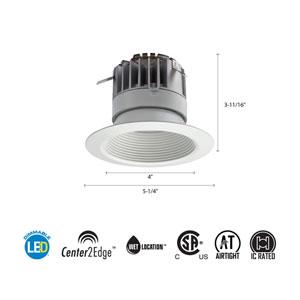 4BPMW LED 27K 90CRI M6 4-Inch White LED Recessed Baffle Module 2700K