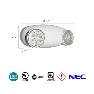 ELM2 LED M12 Quantum 2 Light White LED Emergency Fixture Unit