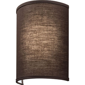 FMABSL 11 7830 F20 M4 Aberdale 11 in. LED Brown Linen Wall Sconce 3000K