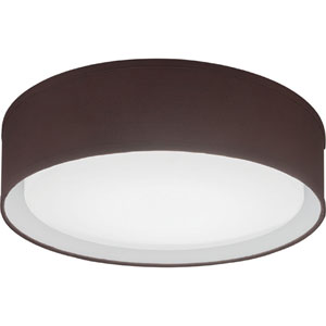 FMABFL 16 20840 F20 M4 Aberdale 16 in. Brown Linen LED Flush Mount 4000K