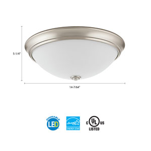 FMDECL 14 20840 BN M4 Essentials 14 in. Brushed Nickel LED Decor Round Flush Mount 4000K