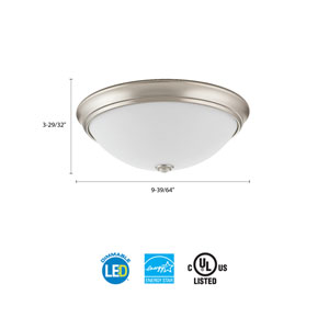 FMDECL 10 14830 BN M4 Essentials 10 in. Brushed Nickel LED Decor Round Flush Mount 3000K