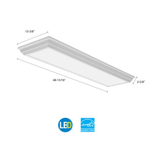 FMFL 30840 CAML WH Cambridge 4 ft. White LED Flush Mount 4000K