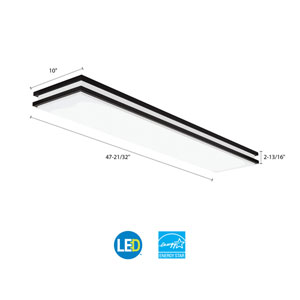 FMFL 30840 SATL BZ Saturn 4 ft. Bronze Linear LED Flush Mount 4000K