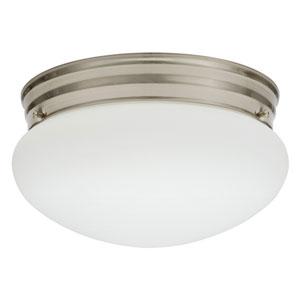 FMMUSL 9 14840 BNP M4 Essentials 9 in. Brushed Nickel LED Mushroom Flush Mount with Shade 4000K