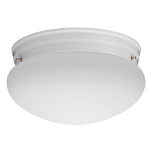 FMMUSL 9 14830 WH M4 Essentials 9 in. White LED Mushroom Flush Mount with Shade 3000K