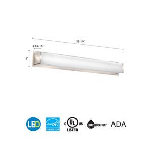 FMVTSL 36IN MVOLT 30K 90CRI BN M2 Traditional Square 3 Foot Brushed Nickel 3K LED Vanity Light