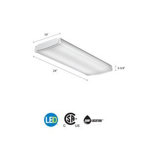 LBL2 LP835 White LED Curved Wraparound Ceiling Light 2 Feet 2K Lumens