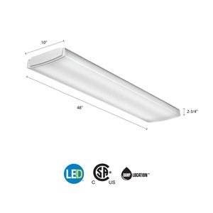 LBL4 LP840 White LED Curved Wraparound Ceiling Light 4 Feet 4K Lumens