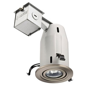 LK3GBN M6 3-Inch Gimbal Kit with Halogen Lamp Included in Nickel