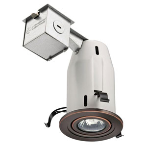 LK3GORB M6 3-Inch Gimbal Kit with Halogen Lamp Included in Bronze