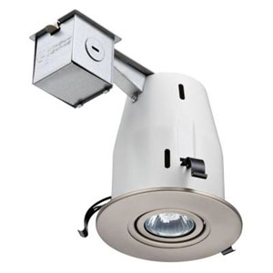 LK4GBN LED LPI M6 4-Inch Gimbal Kit with LED Lamp Included in Nickel