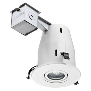 LK4GMW LED LPI M6 4-Inch Gimbal Kit with LED Lamp Included in White