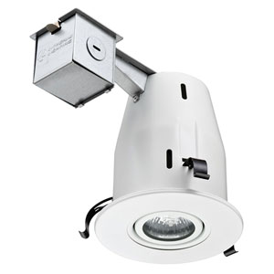 LK4GMW M6 4-Inch Gimbal Kit with Halogen Lamp Included in White