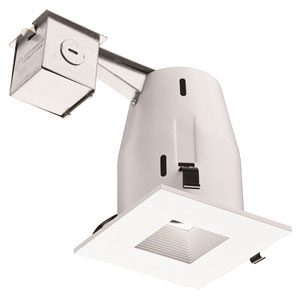LK4SQMW LED LPI M6 Square 4-Inch Kit with LED Lamp Included in White