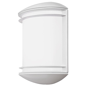White Outdoor Integrated LED Wall Mount Sconce