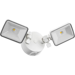 OLF 2SH 40K 120 WH M4 2-Head White Outdoor LED Square Flood Light