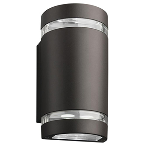 OLLWU LED P1 40K MVOLT DDB M6 Dark Bronze LED Outdoor Cylinder Up and Down Light, MVOLT 4000K, 9W
