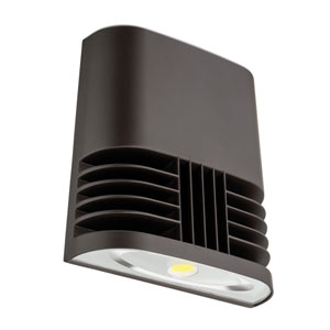 OLWX1 LED 13W 50K M4 Low Profile Bronze Outdoor LED Wall Pack