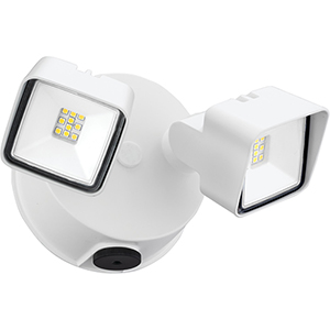 Twin Head Dusk to Dawn Adjustable Outdoor Integrated LED Security Light, Square White, Gen 2